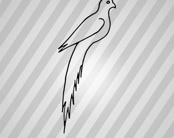 Dove Bird Silhouette - Svg Dxf Eps Silhouette Rld RDWorks Pdf Png AI Files Digital Cut Vector File Svg File Cricut Laser Cut