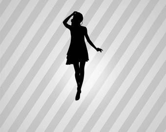 beautiful girl Silhouette - Svg Dxf Eps Silhouette Rld RDWorks Pdf Png AI Files Digital Cut Vector File Svg File Cricut Laser Cut
