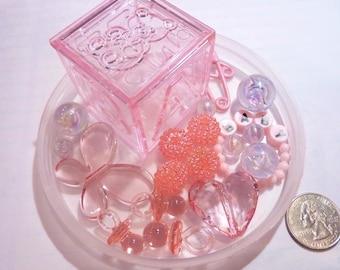 Pink Baby Shower Custom Gem Vase Fillers for Centerpieces
