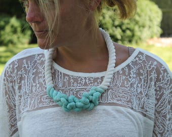 Nautical Rope Preppy Hand Dyed Necklace