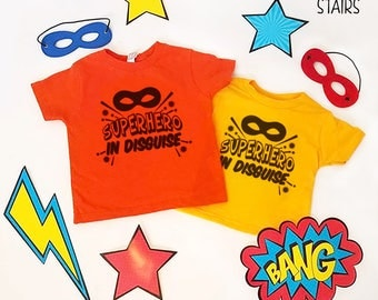 Superhero In Disguise Kids T-shirt, Youth Superhero Shirt, Toddler Super Hero Shirt, Custom Youth Tees, Custom Toddler T-Shirts, Marvel DC