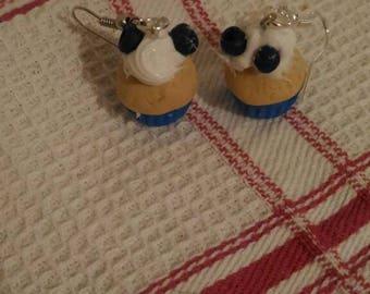 Blueberry Cupcake Earrings