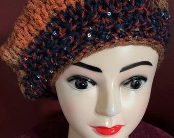 Soft and stylish handmade crochet slouchy hat
