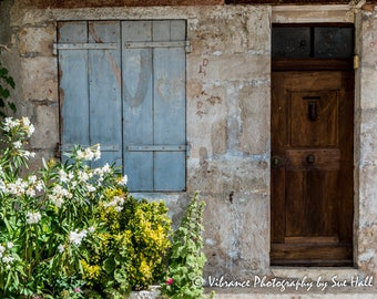 Façade of a Village House in Provence, France