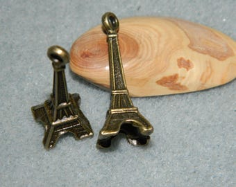5 30 mm bronze Eiffel Tower charm