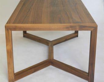 Rectangular walnut table