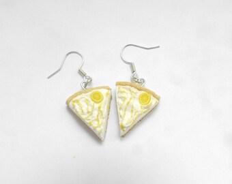 Earrings tart lemon meringue