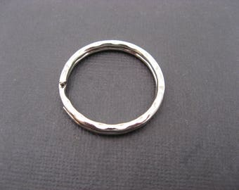 hammered rings key ring 32 mm * 1 set of 10