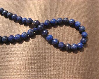 Lapis lazuli: 1 set of 10 4 mm round beads