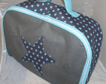 Soft Blue and grey suitcase