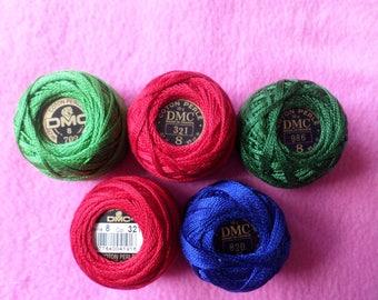 DMC Pearl Cotton various colors