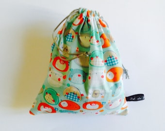 Small tote - Bag in green fabric