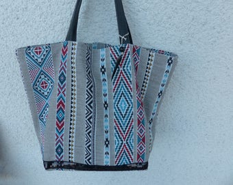 All tote bag with 2 pockets in cotton upholstery