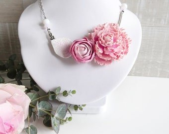 Necklace Peony and Ranunculus