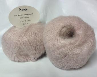 wool-crochet-knit - set of 10 skeins KID MOHAIR wool / made in FRANCE
