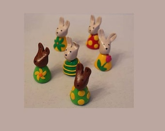 Easter set, 6 bunnies