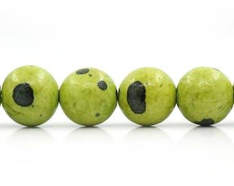ceramic Green 8 mm 10 beads