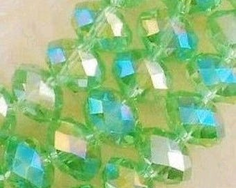 20 beads faceted Crystal 6 x 4 mm