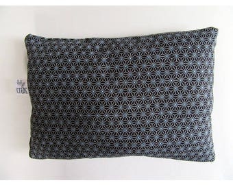Cushion in cotton fabric, different patterns on each side