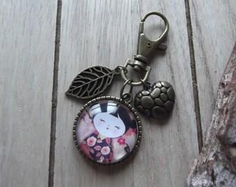 """Bag charm """"small"""" geisha"""""""