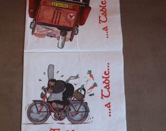 """Paper napkins new breton pattern """"Mam ' Mam'goudig"""""""