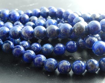 10 Lapis Lazuli beads natural 10mm