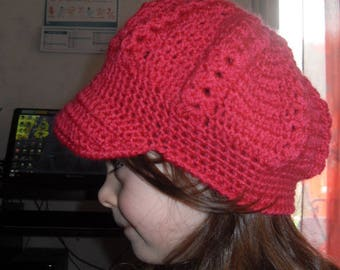 Hat with visor crochet handmade