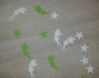 Lot 50 confetti stars and fairy