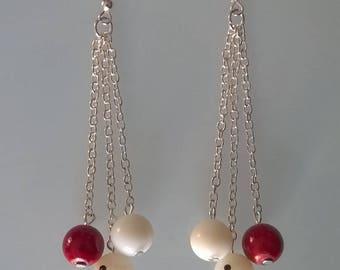 French billiard earrings