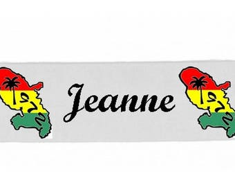 White girl Martinique personalized with name banner
