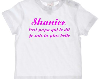 tee shirt baby daddy saying... personalized with name