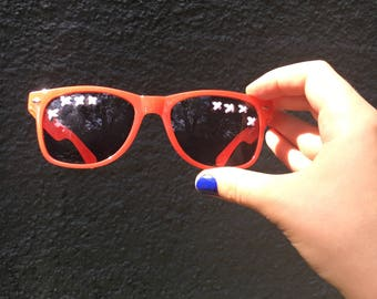 Red Embroidered Sunglasses