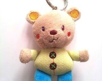 Mini stuffed bear - multicolor T43