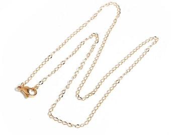 Gold 45 cm chain necklace