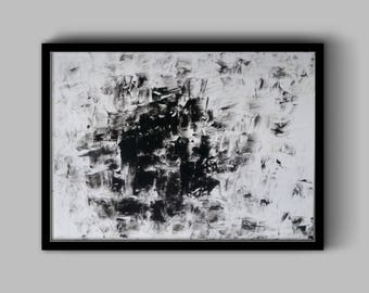 Noir Acrylic Abstract Painting