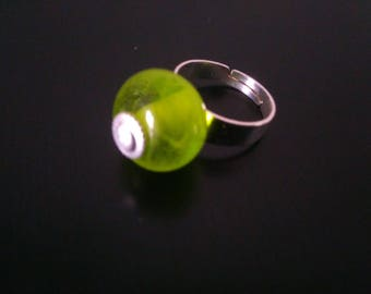 Choose the color of your ring: Lampwork Glass Bead