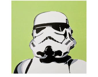 Mr Green Hand Pulled Stormtrooper Screen Print Limited Edition