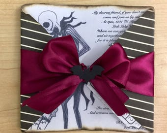 The Nightmare Before Christmas Invitations pregnant sally baby shower, birthday party