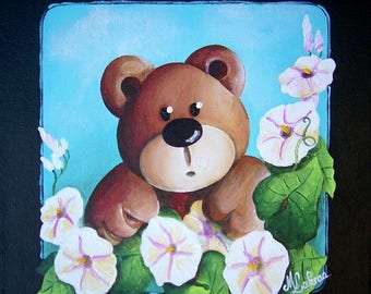 """Acrylic painting on canvas """"to the heart of the bindweed"""""""