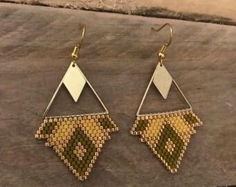 •SANA • golden earrings