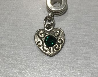 Emerald green stone heart