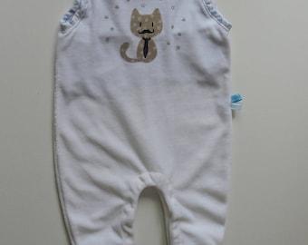 White Velvet Baby onesie
