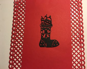 Christmas boot cut scrapbooking