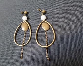 Bohemian earrings with Moonstone