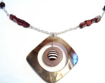 Necklace chain and beads and Pearl pendant