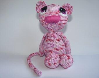 Stuffed amigurumi cotton toy mouse Thea