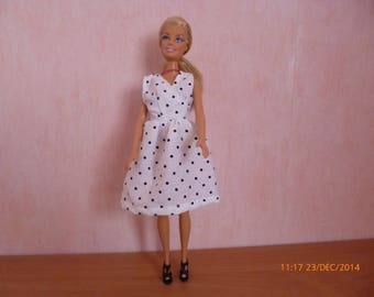 Doll clothes for Barbie (Navy white polka dots dress) ref: 12207143