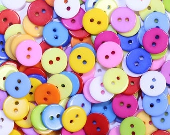 Buttons 11mm 2 holes set of 50 002241