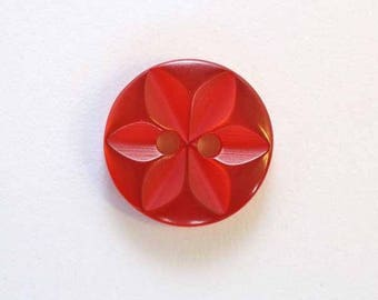 14 mm x 50 red 2 hole - 001642 star button