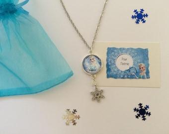 Personalize frozen snowflake necklace